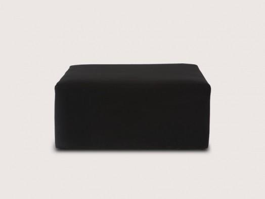 Puff Quadrado Preto